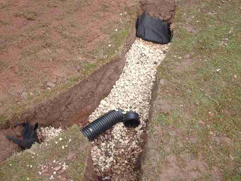 French drain system everdry waterproofing of michiana for What does a french drain look like